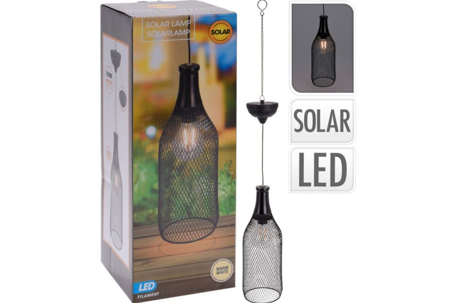 Solar Powered Metal Bottle Hanging Light