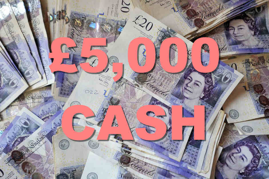 Win £5,000 In Cash